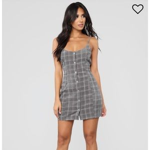Fashion Nova In Session Corduroy Plaid Dress